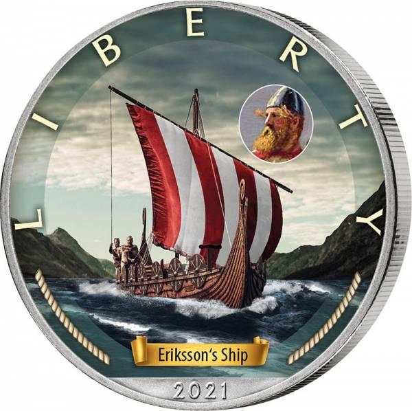 1 Dollar USA Erikssons Schiff 2021