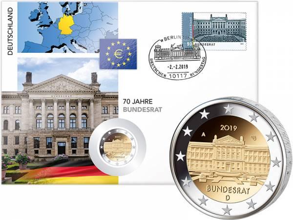2 Euro Numisbrief BRD 70 Jahre Bundesrat 2019