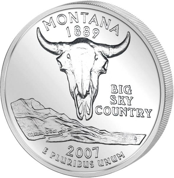 Quarter Dollar USA Montana 2007