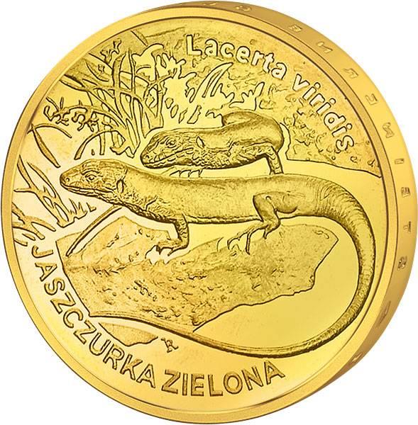 2 Zloty Polen Grüne Eidechse 2009 prägefrisch