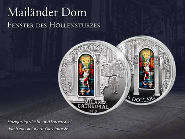 10 Dollars Cook-Inseln Mailänder Dom Fenster des Höllensturzes 2013 - FOTOMUSTER