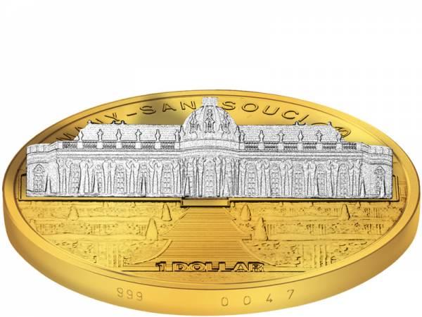 1 Dollar Cook-Inseln Deutschland Schloss Sanssouci 2010