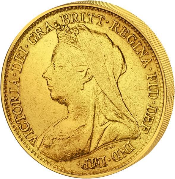 1/2 Sovereign Großbritannien Queen Victoria 1893-1901 Sehr schön