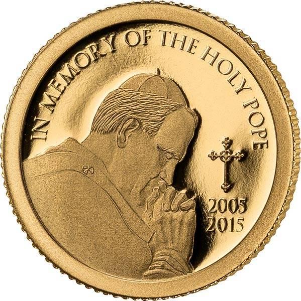 1.500 Shillings Tansania 10. Todestag Johannes Paul II.2015