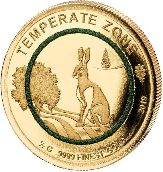 100 Francs Elfenbeinküste Gemäßigte Zone Hase 2019