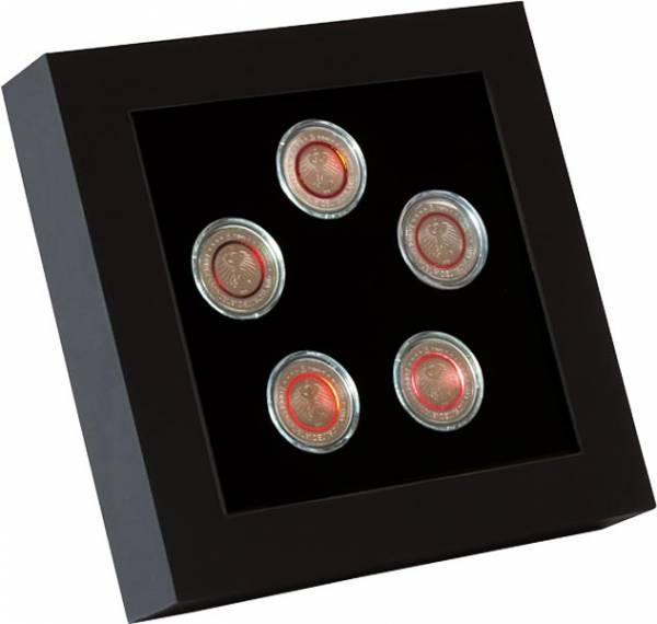 LED-Präsentationsrahmen für 5 Münzen