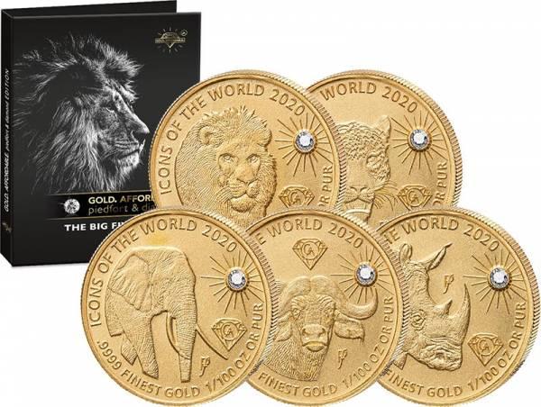 5x10 Francs Ruanda Big Five 2020