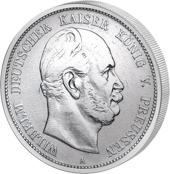2 Mark Preußen Wilhelm I. 1876-1884 s-ss