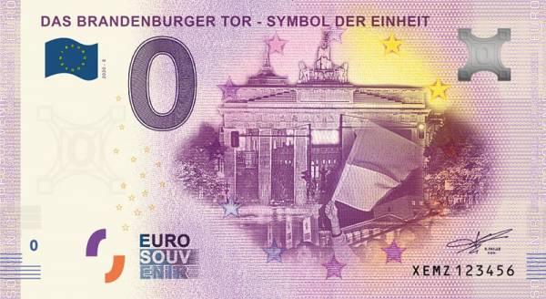 0-Euro-Banknote Brandenburger Tor 2020