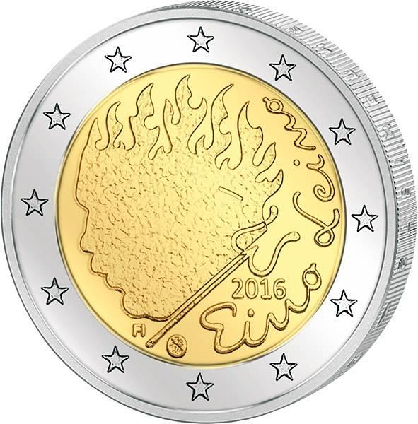 2 Euro Finnland 90. Todestag von Eino Leino