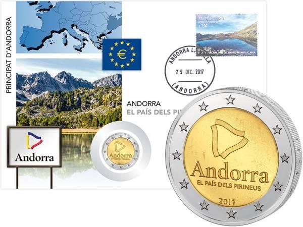 2 Euro Numisbrief Andorra Land in den Pyrenäen 2017