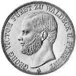 Taler Doppeltaler Georg Victor 1856 Vorzüglich