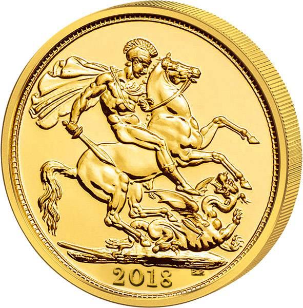 1 Sovereign Großbritannien Queen Elizabeth II. 2018