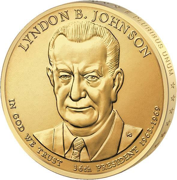 1 Dollar USA Lyndon B. Johnson 2015 prägefrisch