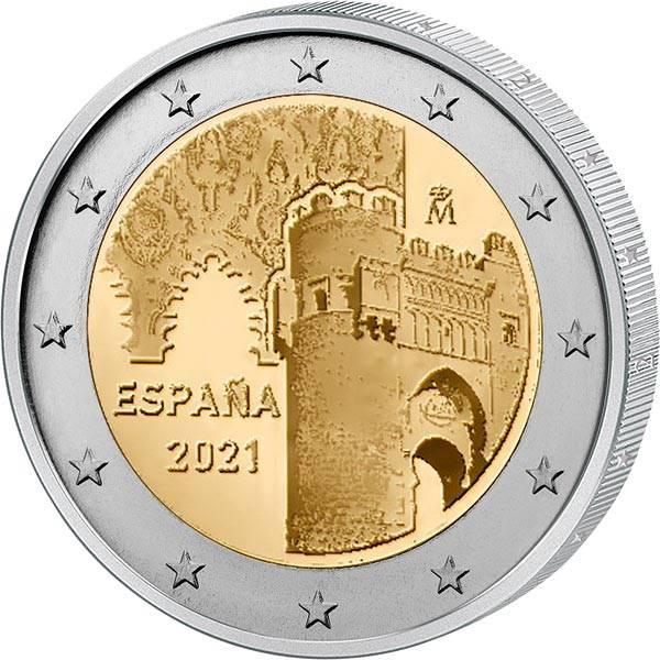 2 Euro Spanien UNESCO-Weltkulturerbe Altstadt von Toledo 2021