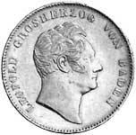 Doppeltaler Baden Leopold Silber 1845-1852 ss-vz