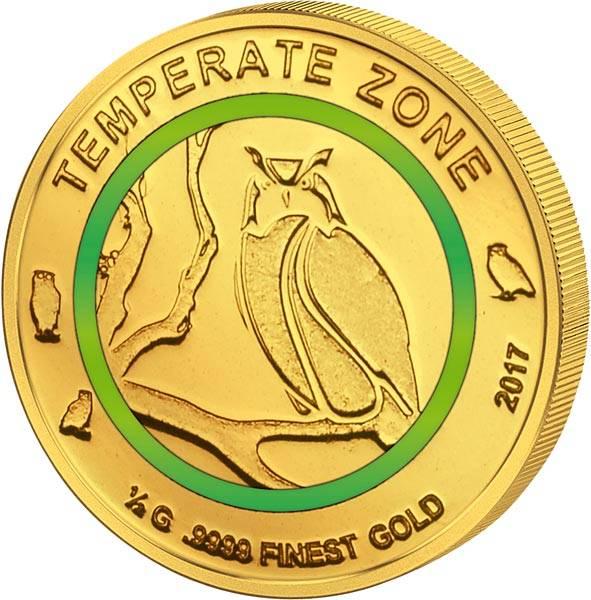 100 Francs Elfenbeinküste Gemäßigte Zone Uhu 2017