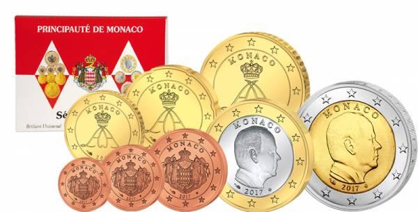 Euro-Kursmünzensatz Monaco 2017