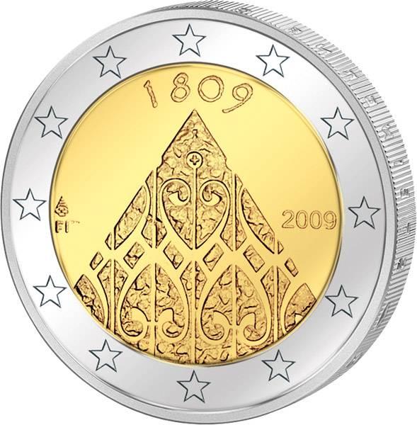 2 Euro Finnland 200 Jahre Landtag zu Porvoo 2009 prägefrisch
