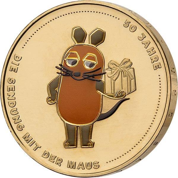 20 Euro BRD 50 Jahre Sendung mit der Maus 2021 vollvergoldet