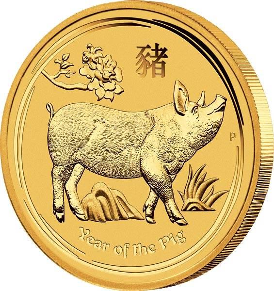 1/10 Unze Gold Australien Jahr des Schweins 2019