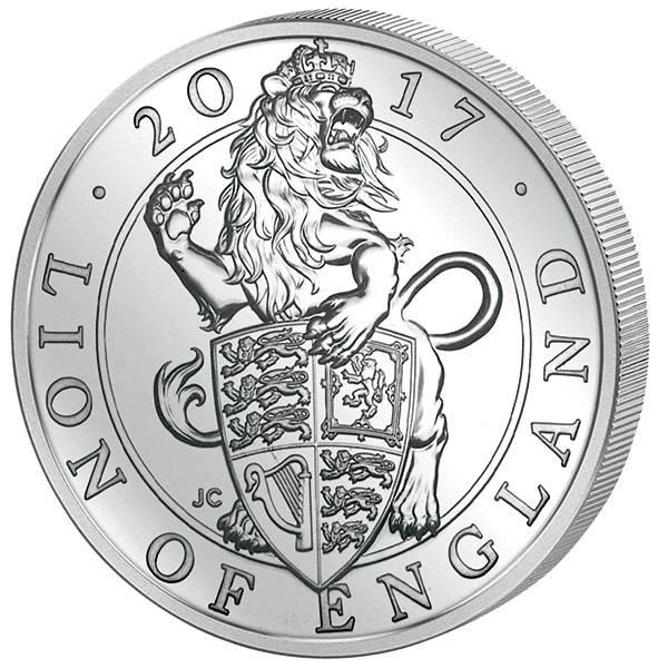 5 Pounds Großbritannien Queens Beasts Löwe 2017