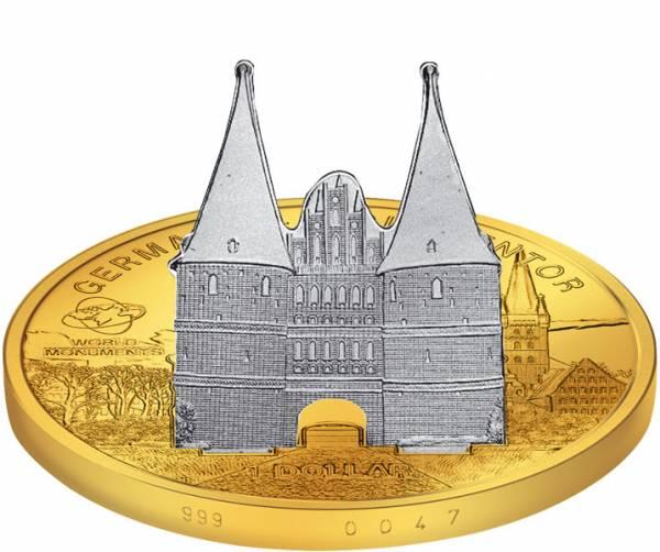 1 Dollar Cook-Inseln Deutschland Holstentor 2009