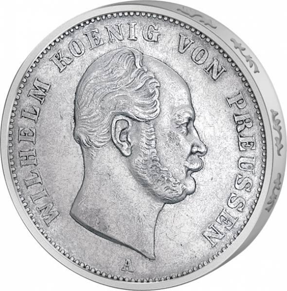 Taler Ausbeutetaler Preußen König Wilhelm I. 1861-1862 Sehr schön