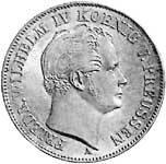 Taler Ausbeutetaler Friedrich Wilhelm IV. 1842-1852  ss-vz