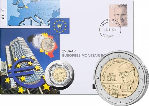 2 Euro Numisbrief Belgien 25 Jahre Währungsunion 2019