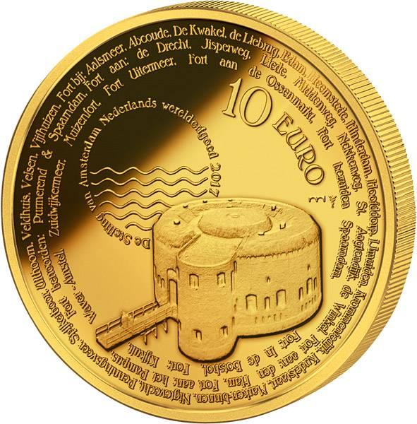 10 Euro Niederlande Stellung von Amsterdam 2017