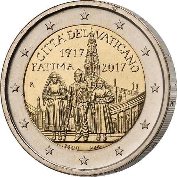 2 Euro Erstagsedition  Vatikan 100. Jahrestag Erscheinung Fatima 2017