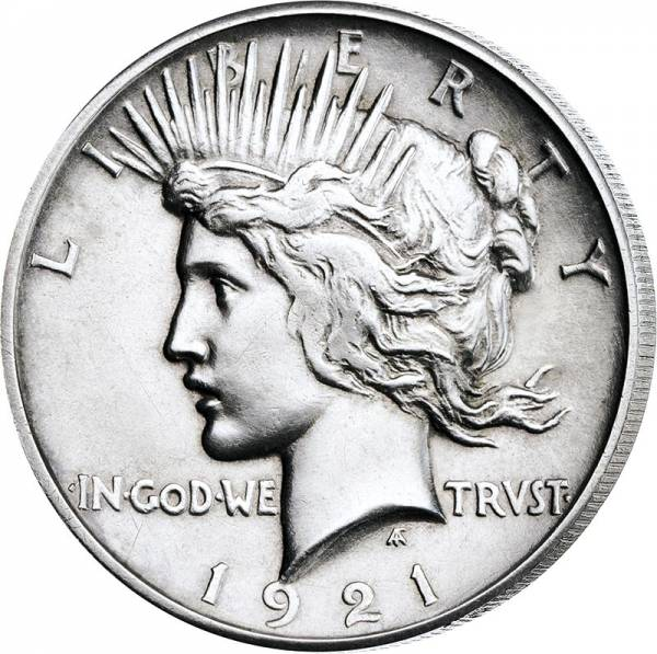1 Dollar USA Peace Dollar 1921 Hoch-Relief