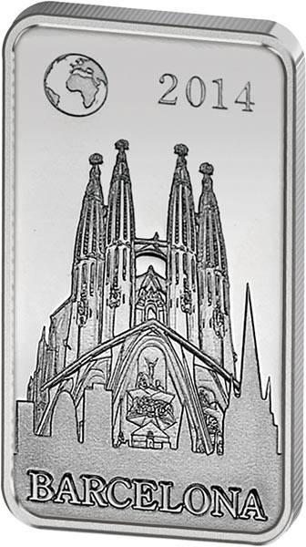 1/2 Dollar Salomonen Berühmte Wahrzeichen Barcelona Sagrada Familia 2014