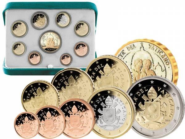 Euro Kursmünzensatz Vatikan 2019 Ersttags-Edition