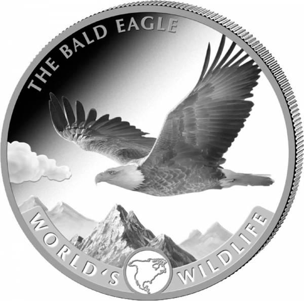 1 Unze Silber Kongo Weißkopfseeadler 2021
