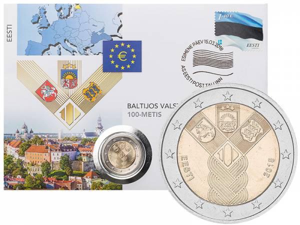 2 Euro Numisbrief Estland 100 Jahre Unabhängigkeit 2018
