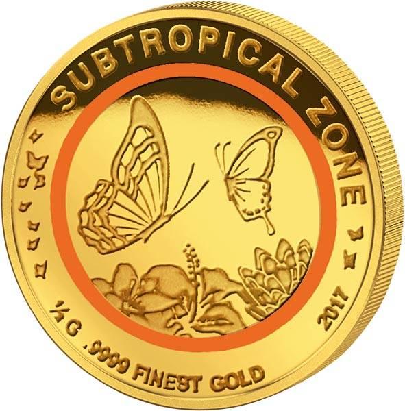 100 Francs Kongo Schmetterling Subtropische Zone 2017