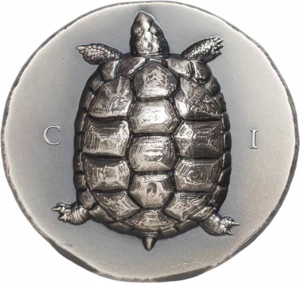 1 Unze Silber Cook-Inseln Landschildkröte 2020