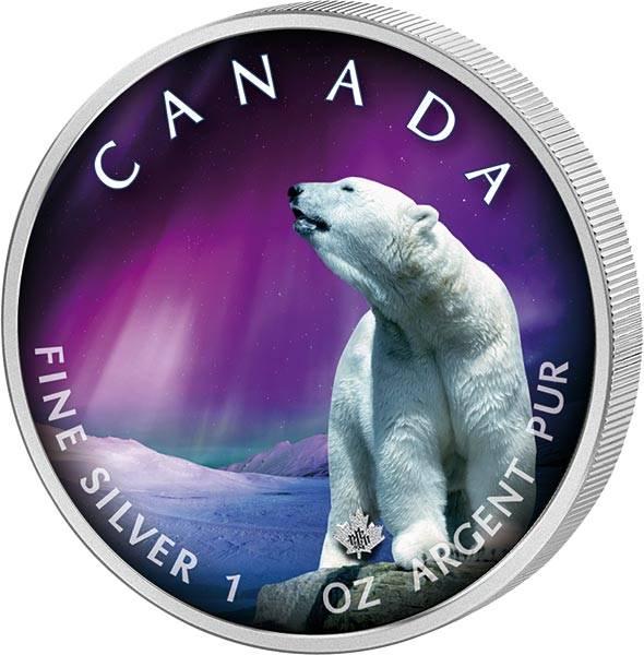 5 Dollars Kanada Maple Leaf Churchill Town