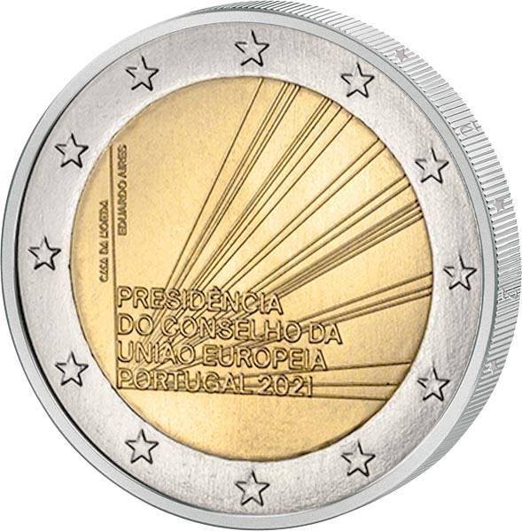 2 Euro Portugal EU-Ratspräsidentschaft 2021