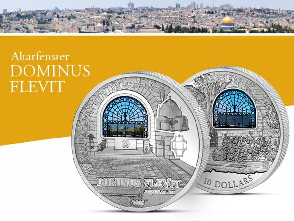 10 Dollars Cook-Inseln Jerusalem Dominus Flevit Altarfenster