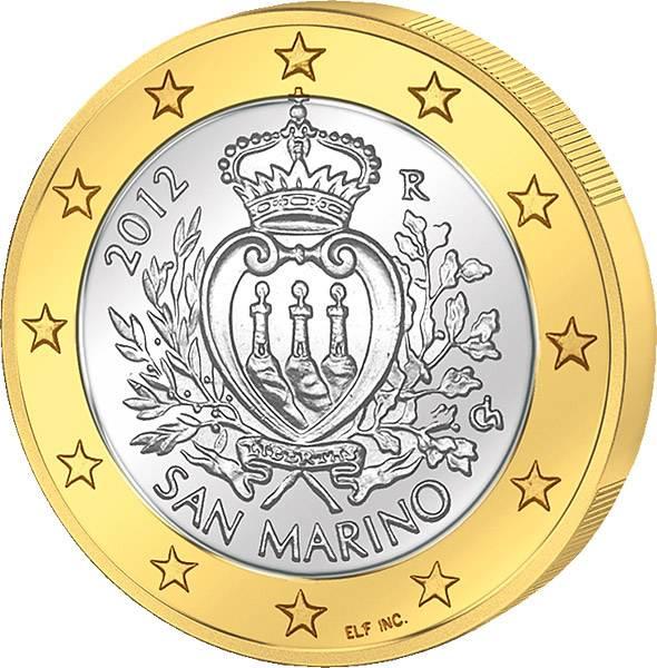 1 Euro San Marino Staatswappen