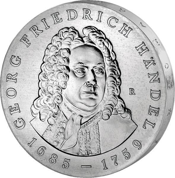 20 Mark  Georg Friedrich Händel 1984 A Stempelglanz