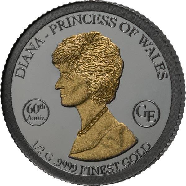 1.000 Francs Guinea 60. Geburtstag von Lady Diana 2021 Golden Enigma Edition