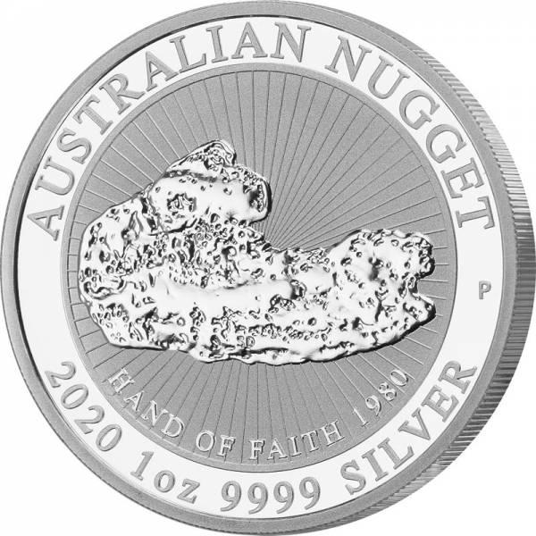 1 Unze Silber Australien Australischer Nugget 2020