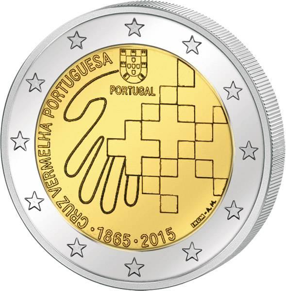 2 Euro Portugal 150 Jahre Portugiesisches Rotes Kreuz 2015 prägefrisch