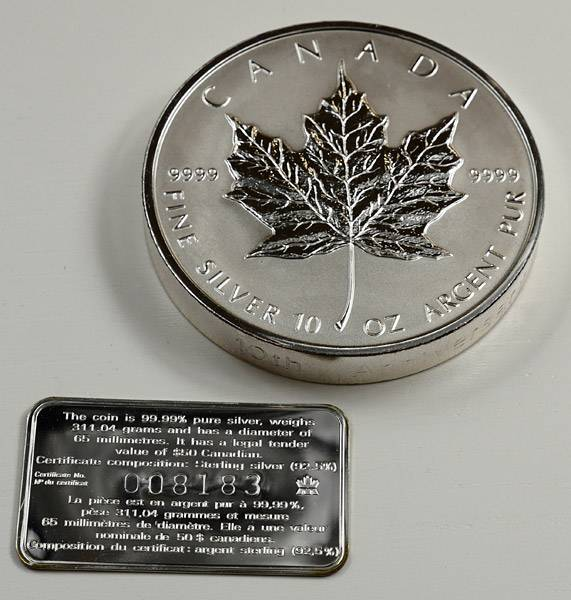 10 Unzen Kanada Maple Leaf 1998