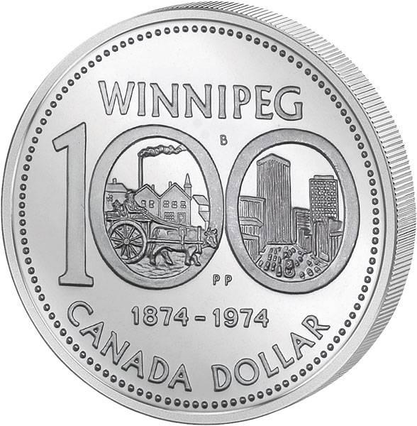 1 Dollar Kanada 100 Jahre Stadt Winnipeg
