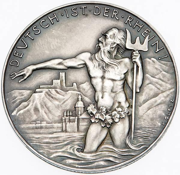 Silbermedaille Deutsch ist der Rhein 1930